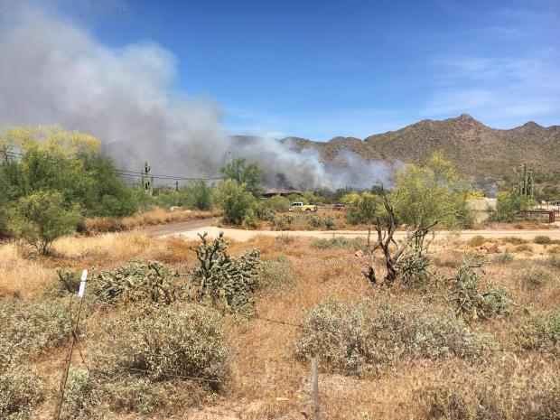 Incident Photo for the East Desert Fire
