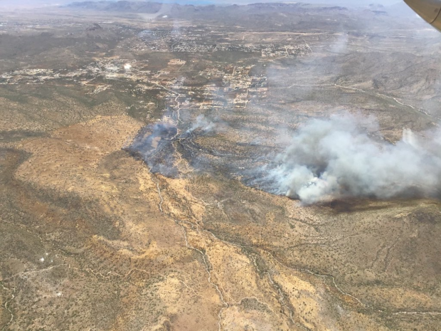 Incident Photo for the Central Fire