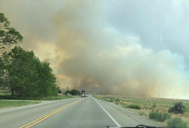 Incident Photo for the Brown Fire