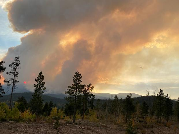 Incident Photo for the Cameron Peak Fire