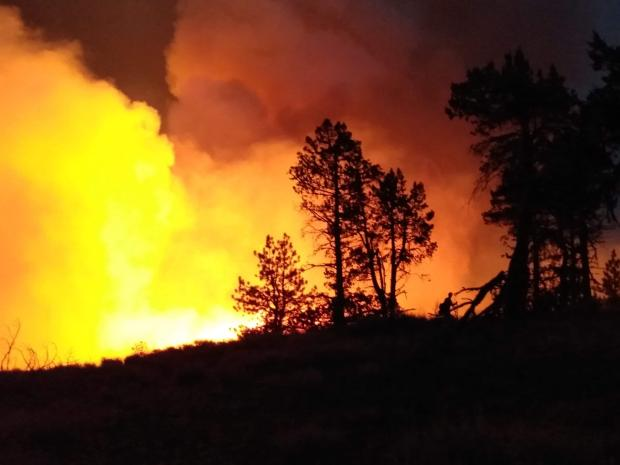 Incident Photo for the East Well Fire