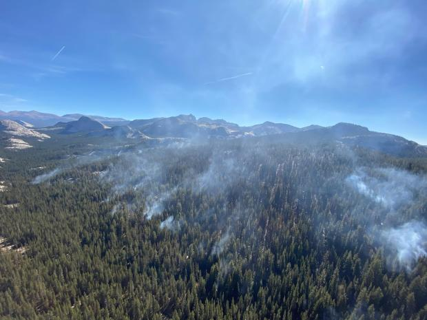 Incident Photo for the North Whizz Dome Fire