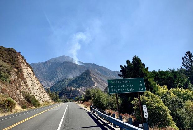 Incident Photo for the El Dorado Fire