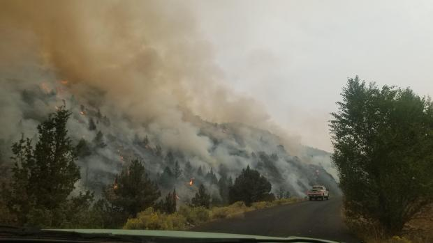 Incident Photo for the Brattain Fire