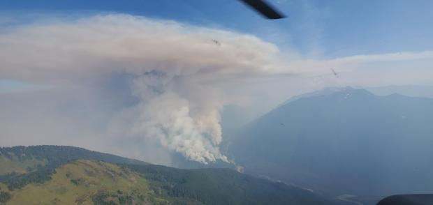 Incident Photo for the Downey Creek Fire