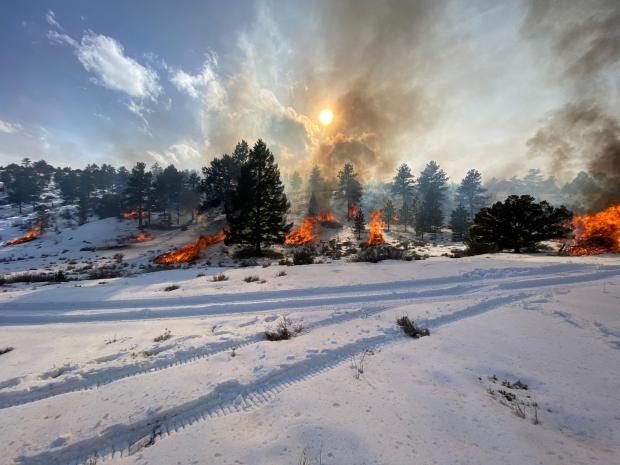 Incident Photo for the 2020-21 Royal Gorge FO Pile Burns Fire
