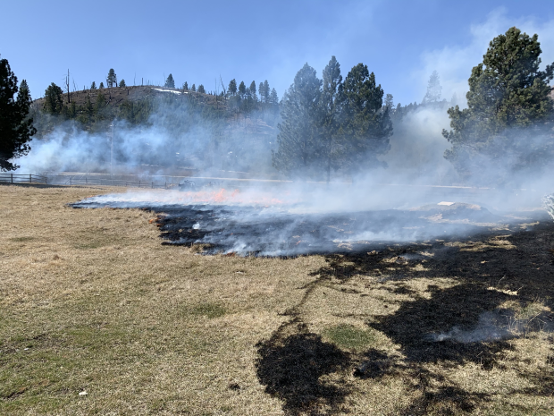 Incident Photo for the Bitterroot Spring RX 2021 Fire