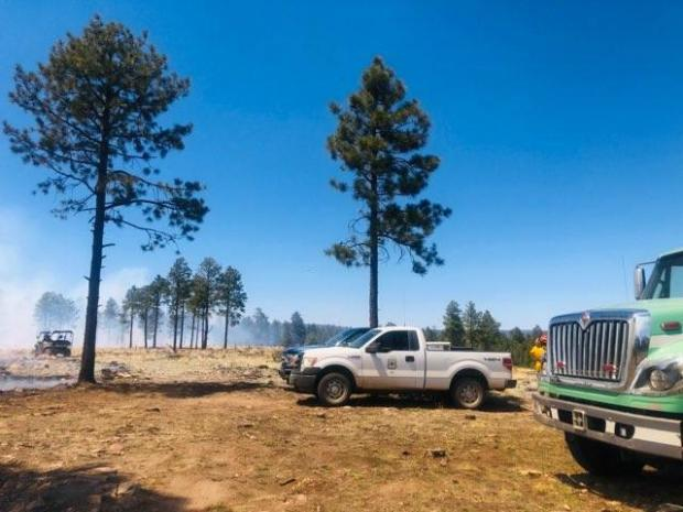 Incident Photo for the Copperton RX Burn Fire