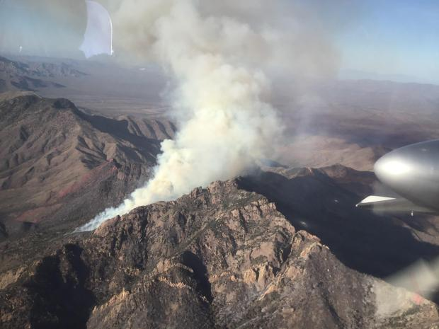 Incident Photo for the Sycamore Canyon Fire
