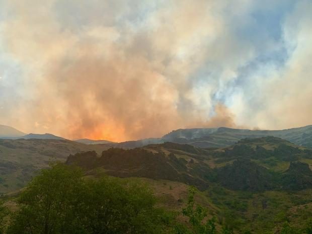 Incident Photo for the Joseph Canyon Fire