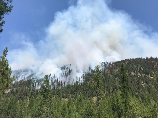 Incident Photo for the South Yaak Fire